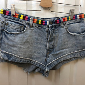 Free People Jean Short Shorts. size 28